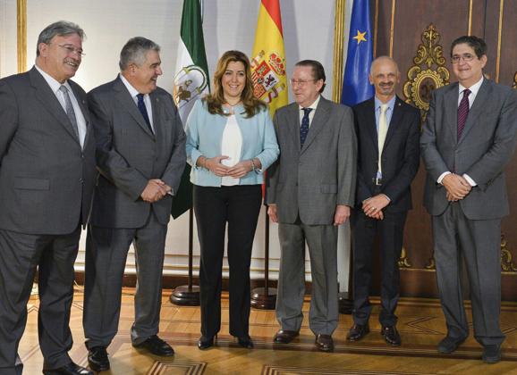 La Presidenta recibió al Consejo Andaluz