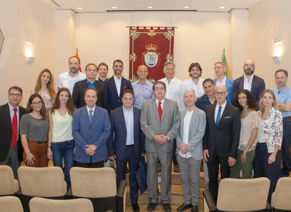 Visita de letrados italianos al Colegio